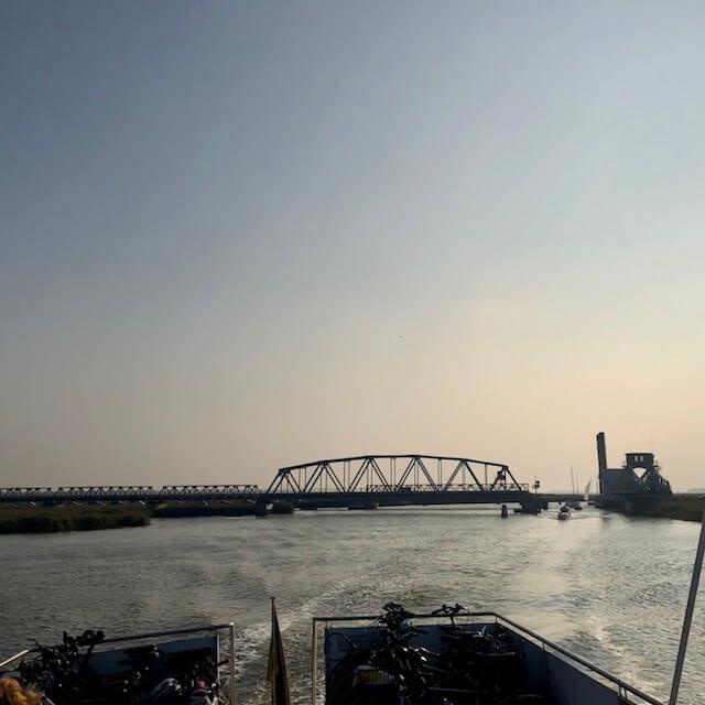 Meiningenbrücke auf den Darß Bodden