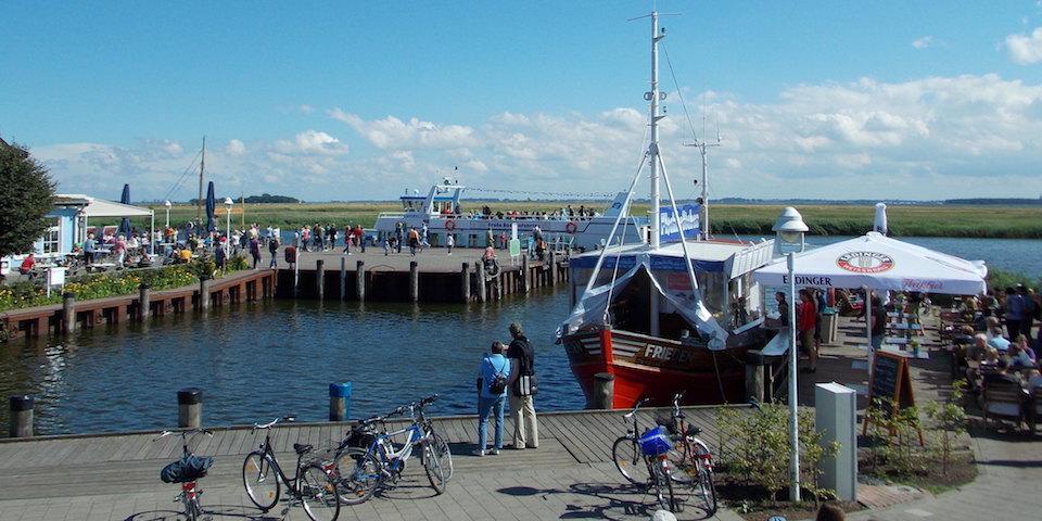 Hafen von Zingst für Boddenschiffe