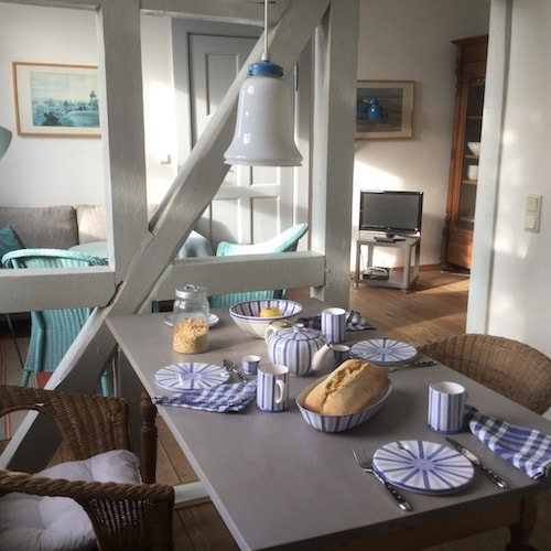 Fachwerk zwischen Küche und Wohnzimmer